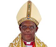Omurolerezi wa Bunyoro kitara Diocese Rt. Rev. Samwell Kahuma Abwoli arangiriire Okusaba kwa LITANI