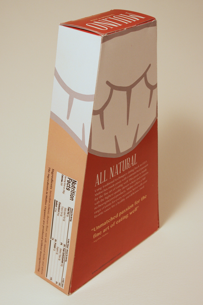 Mulino Pasta Box - Back