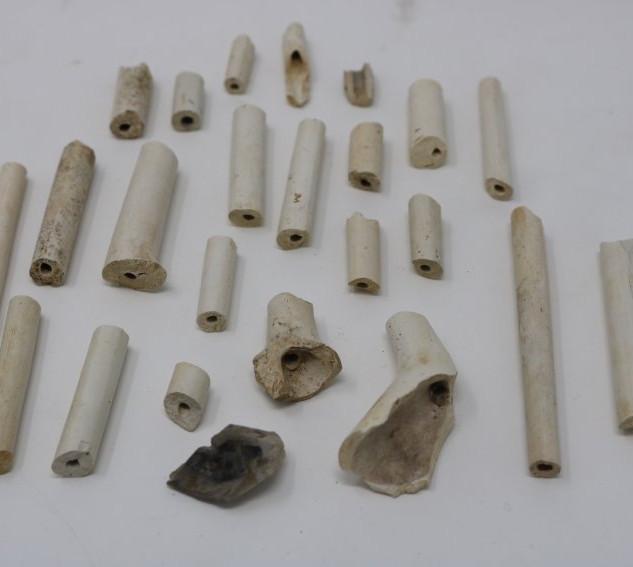 Smoking pipe fragments.