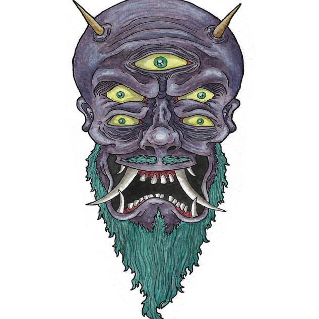 Purple Oni Mask