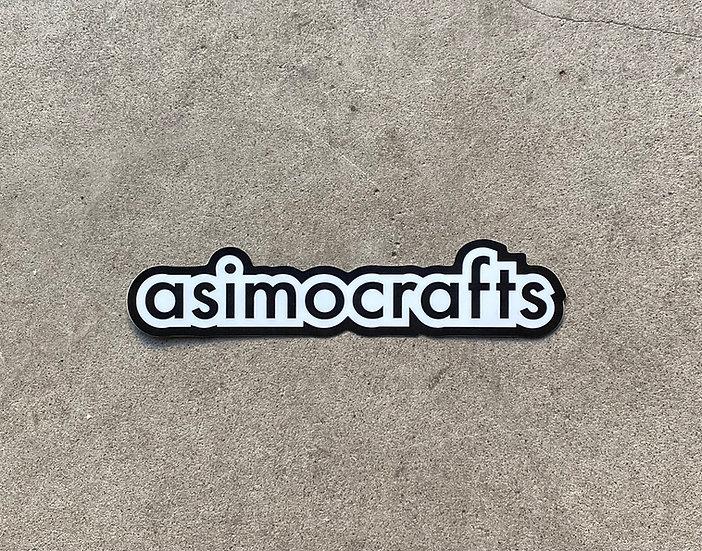 asimocraftsステッカー