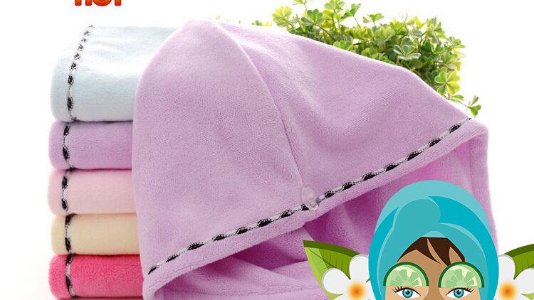 Super Water Absorbency Microfiber Hair Drying Turban Wraps Towel