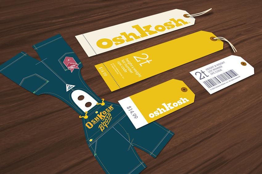 Oshkosh heritage hang tags