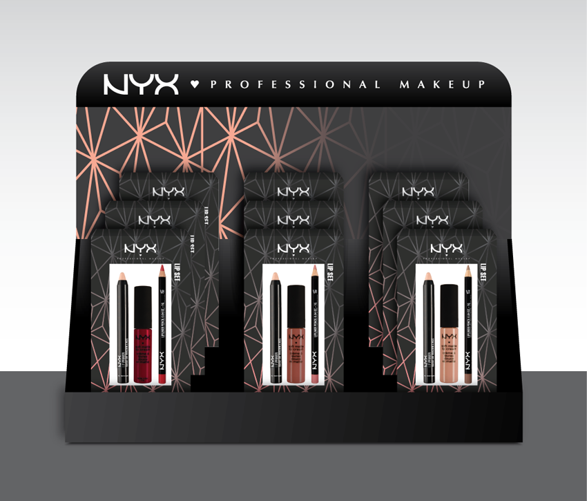 NYX holiday product display