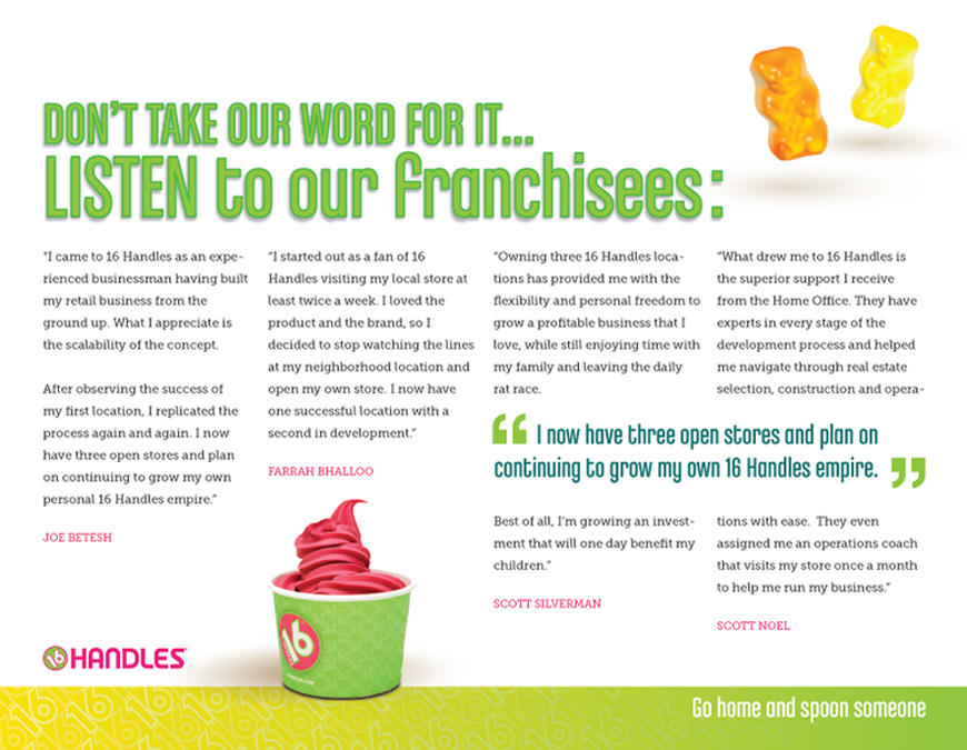 Listen to our franchisees: