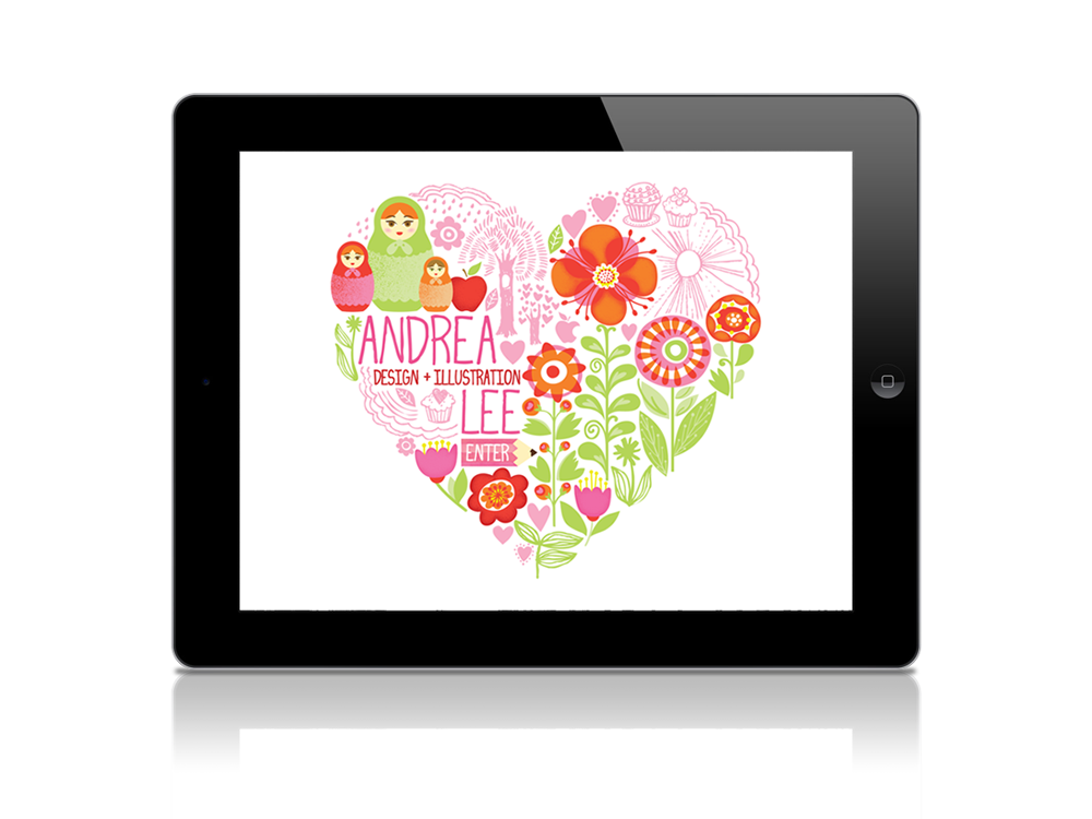 Heart-shaped landing page