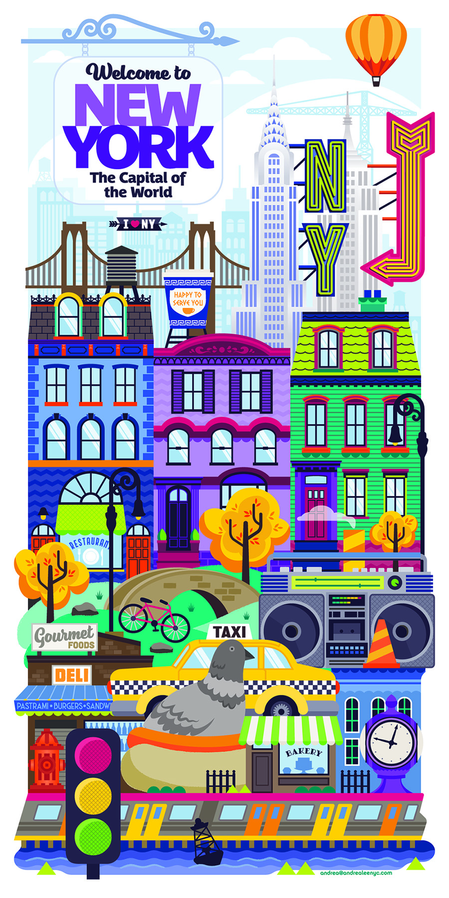 NYC guidebook illustrated cover