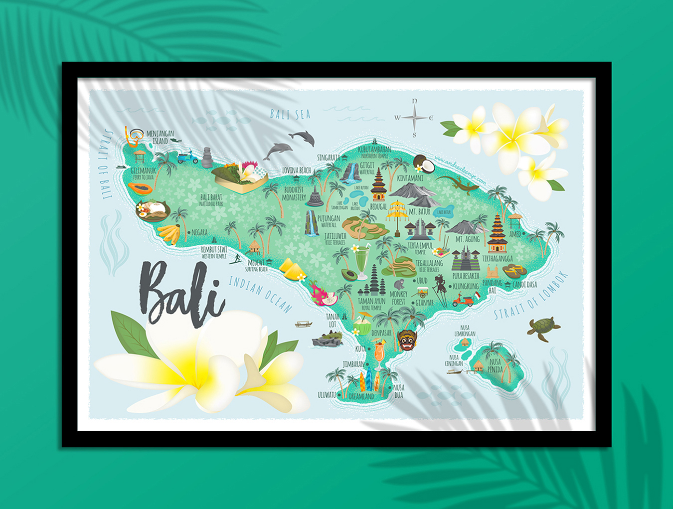 Bali illustrated map