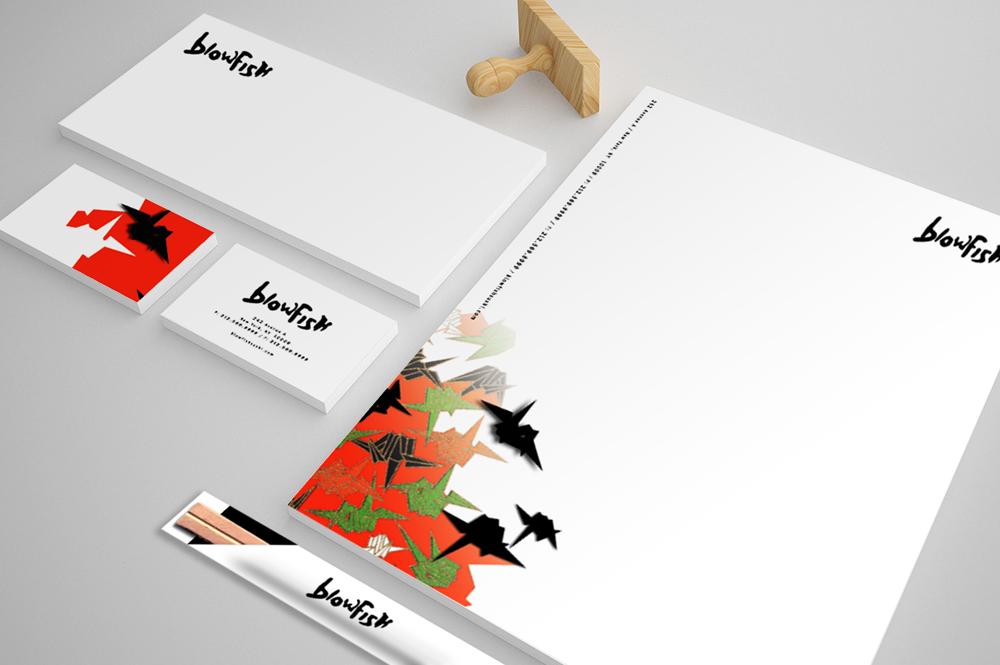 Blowfish print identity concept #3