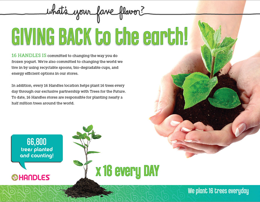 Giving back to the earth!