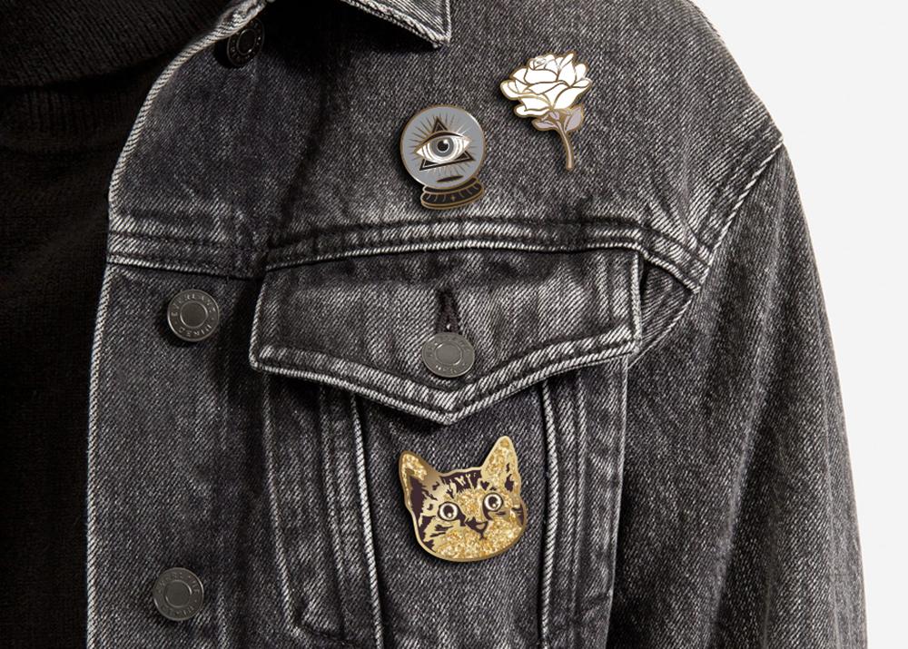 Original enamel pin designs