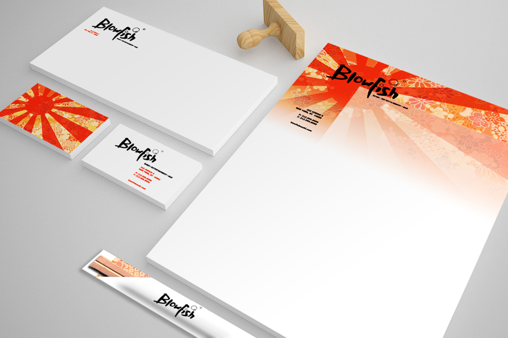 Blowfish print identity concept #1