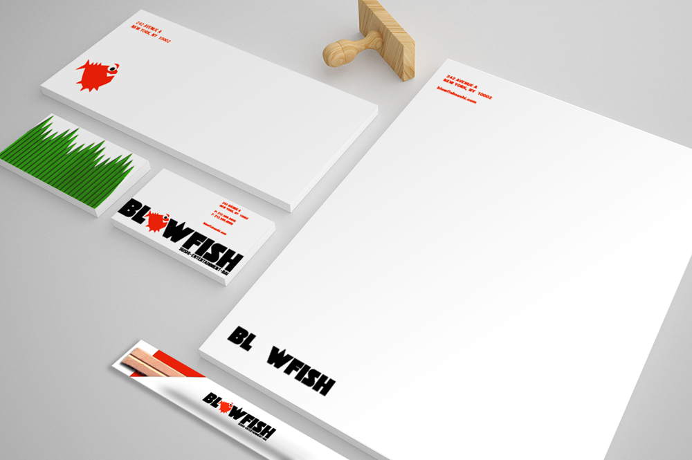 Blowfish print identity concept #2
