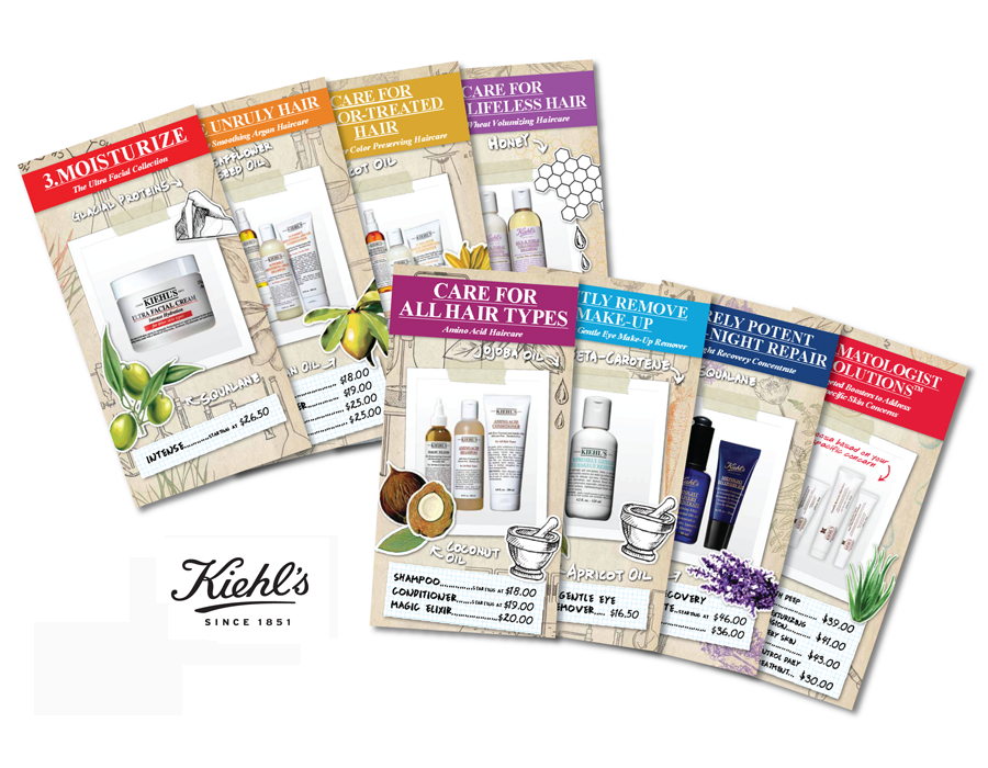 Kiehl's retail price cards