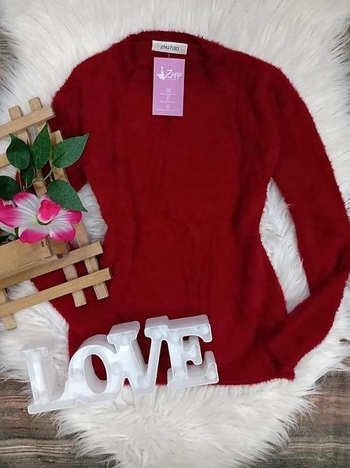 Blusa Pelinhos Vermelha