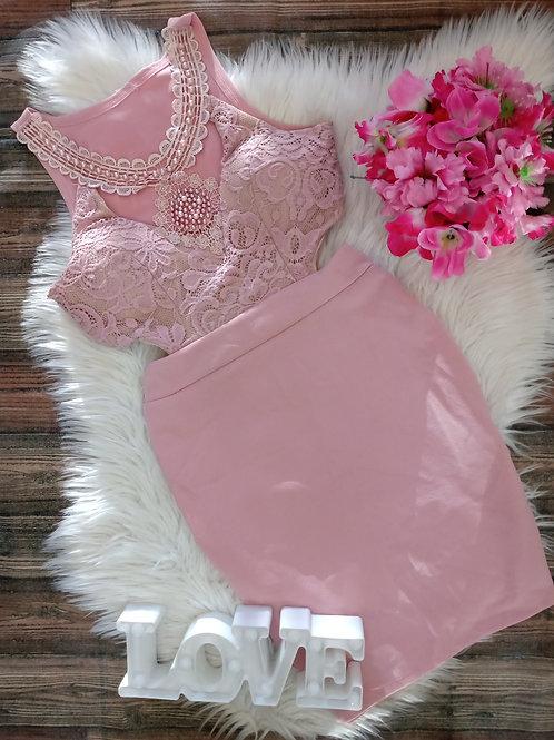Vestido Festa Com bojo rosa