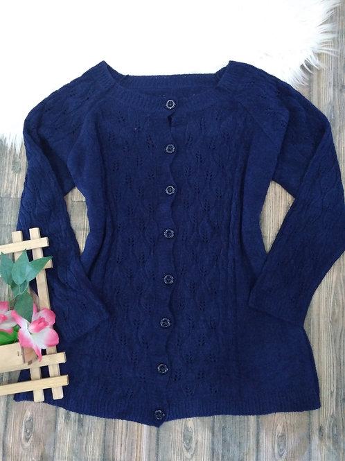 Casaco tricô azul marinho G1