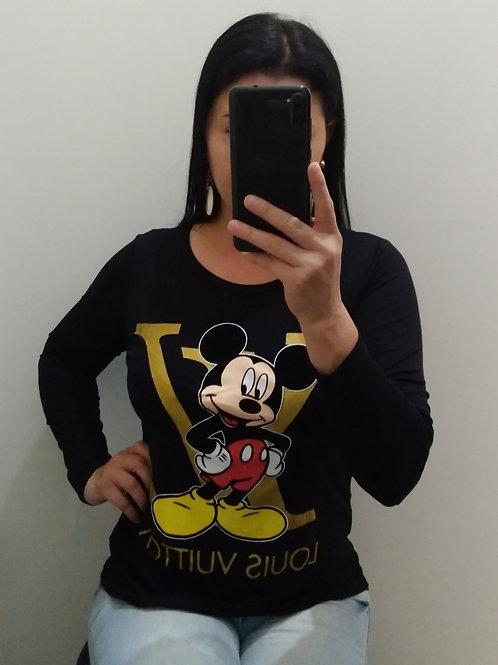 Blusa Louis Vuitton Preta Mickey