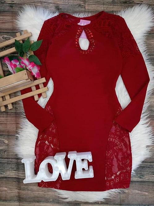 Vestido vermelho P/M