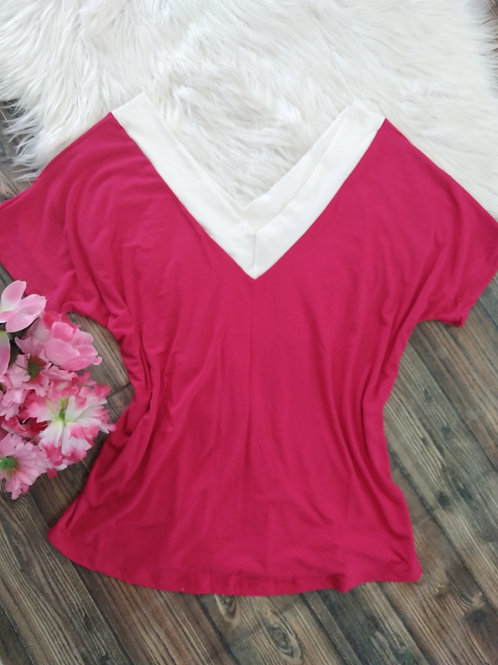 Blusa Pink M  decote V
