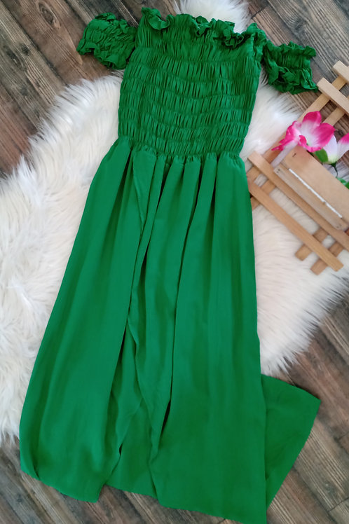 Vestido Longo Ciganinha Verde P/M