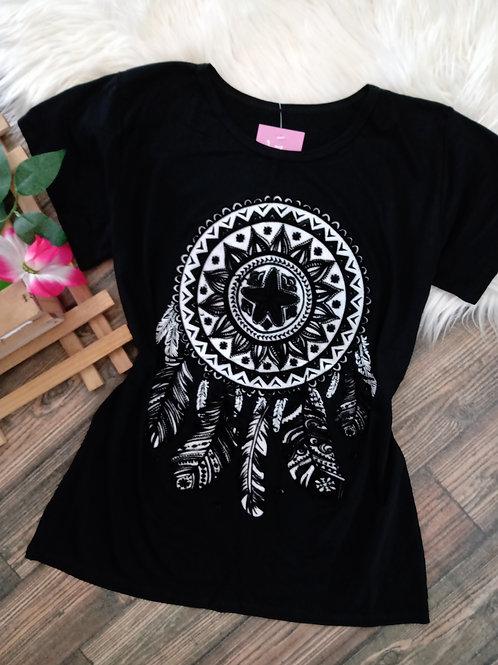 T-shirt Preta Alto Relevo