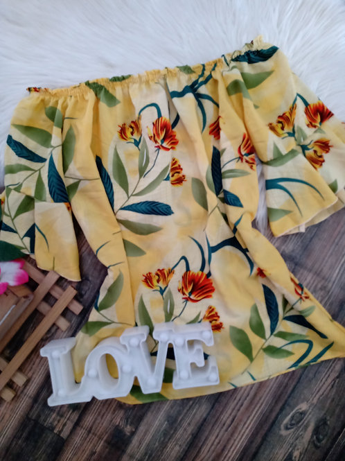 Ciganinha Amarela Floral GG