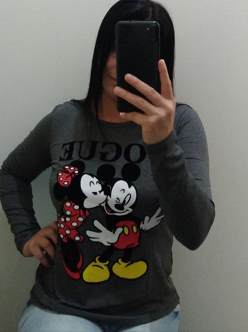 Blusa Cinza Vogue Minie/Mickey
