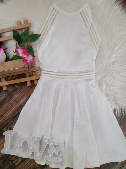Vestido Canelado Branco