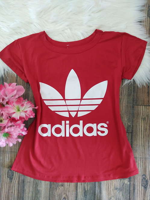 T-shirts adidas vermelha M/G