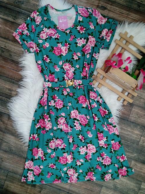 Vestido Floral Verde GG
