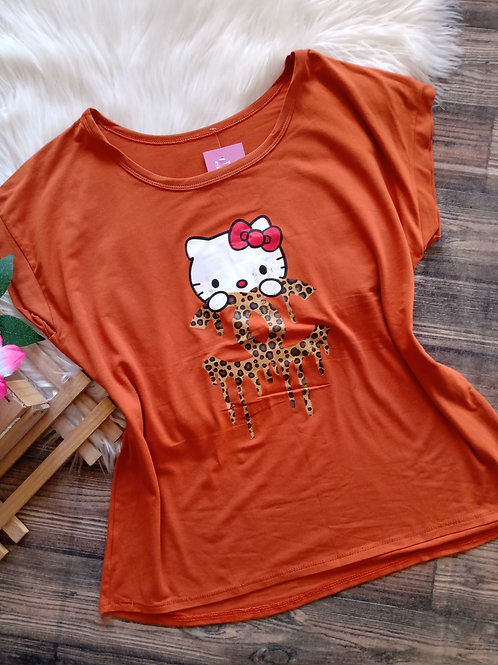T-shirt Caramelo