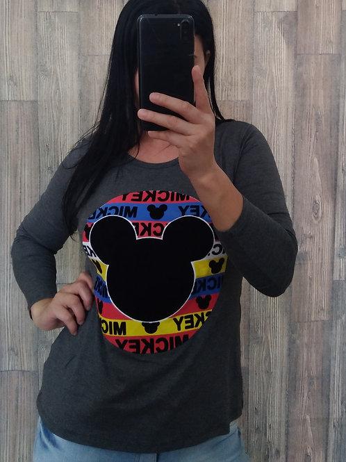 Blusa Cinza Mickey P/M
