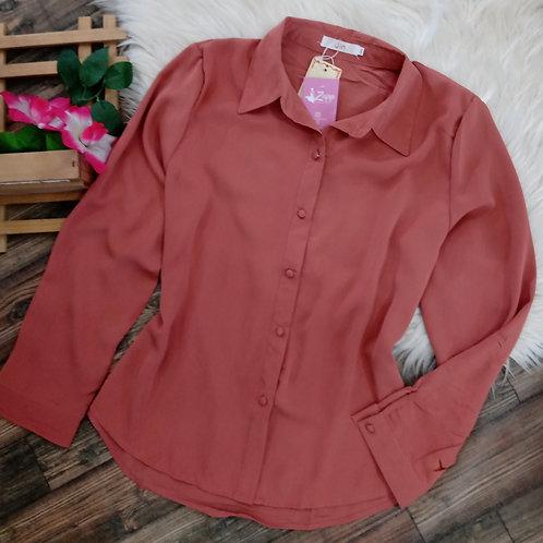 Camisa manga longa rosê GG
