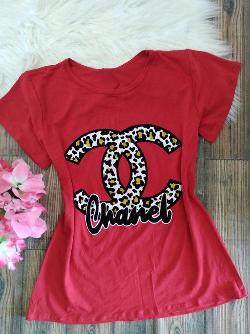 T-shirts Vermelha Chanel P/M