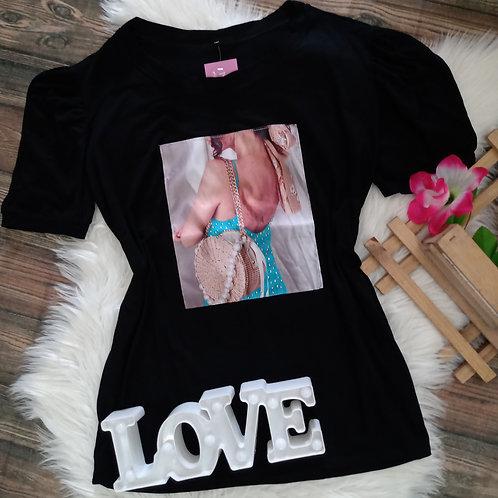 T-shirt Princesa Preta G3