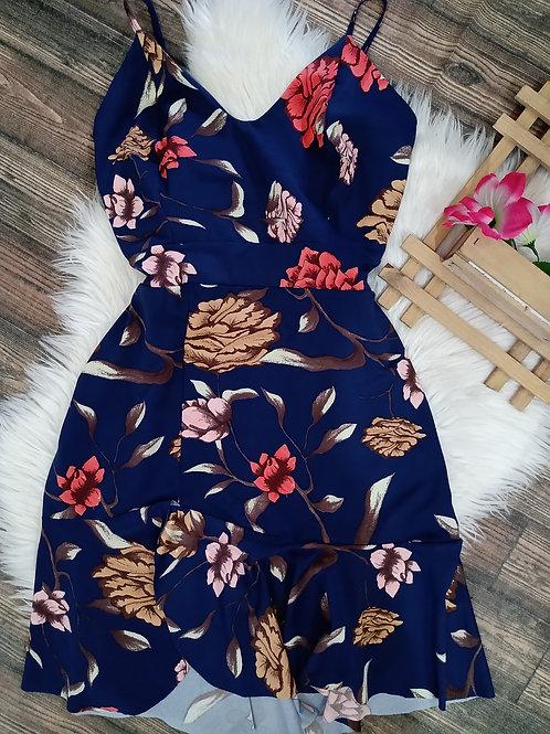 Vestido Floral Azul GG