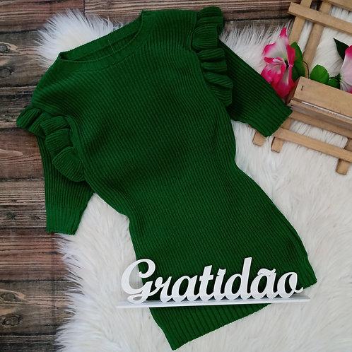 Blusa Tricô Verde P/M