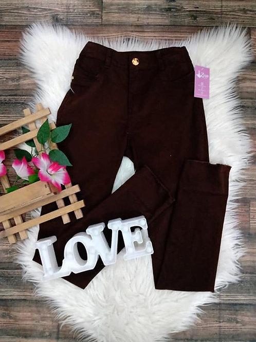Calça Marrom Jeans 38