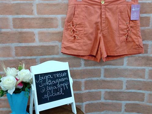 Shorts Casual  Alaranjado G