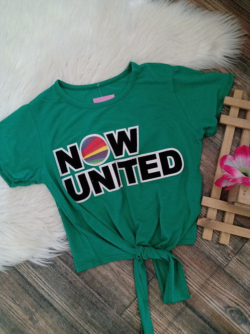 T-shirt verde Now United
