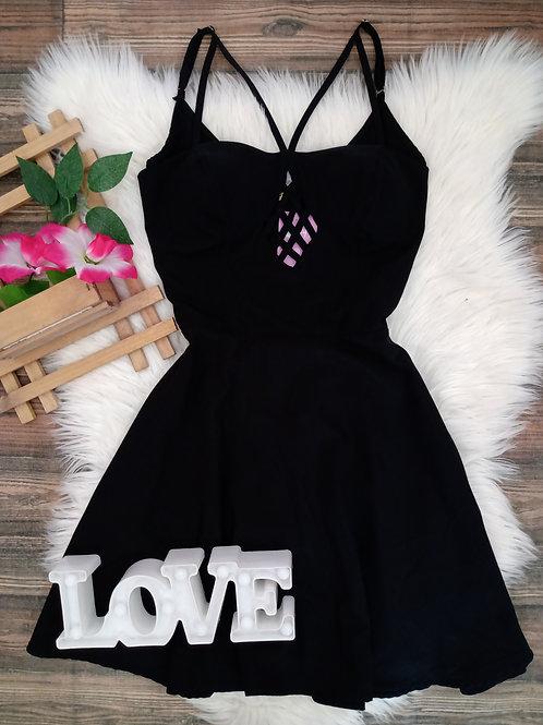 Vestido Tecido Preto M