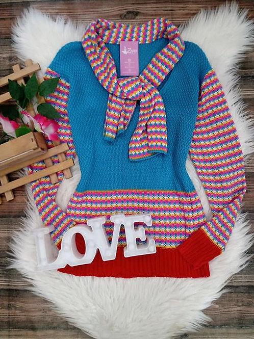 Blusa Tricô Multicolor