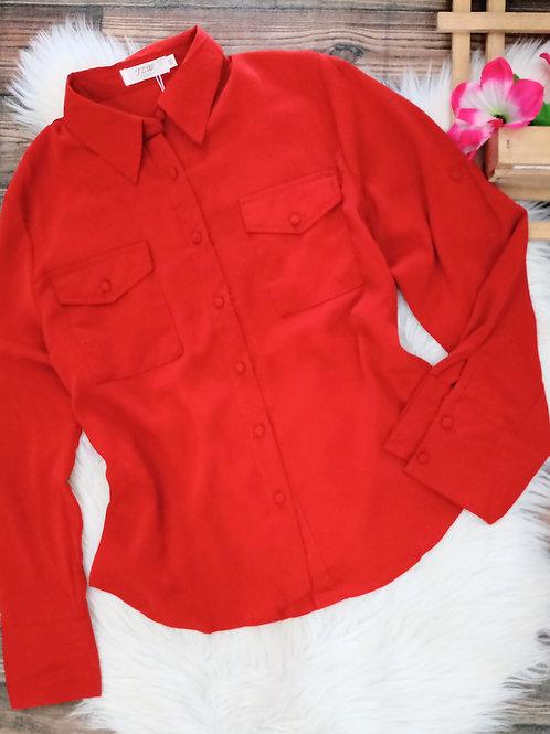 Camisa laranja manga longa GG