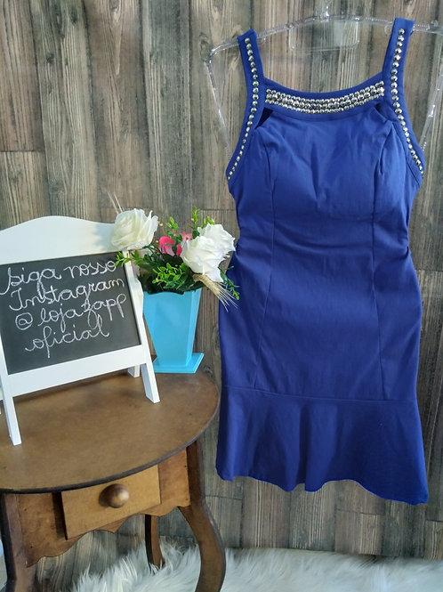 Vestido C/ Rebites Azul