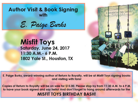 Special Announcement - Book Signing Scheduled!