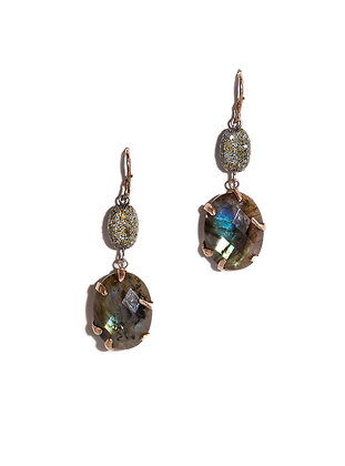 Faceted with Labradorites Pave' Yellow Diamond Beads