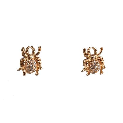 Pave' Diamond Spider Studs