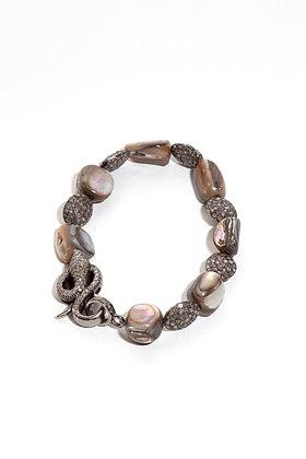 Pave' Diamond Snake Bracelet