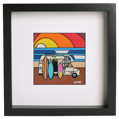 Surf Camper 12 x 12 in (Print)